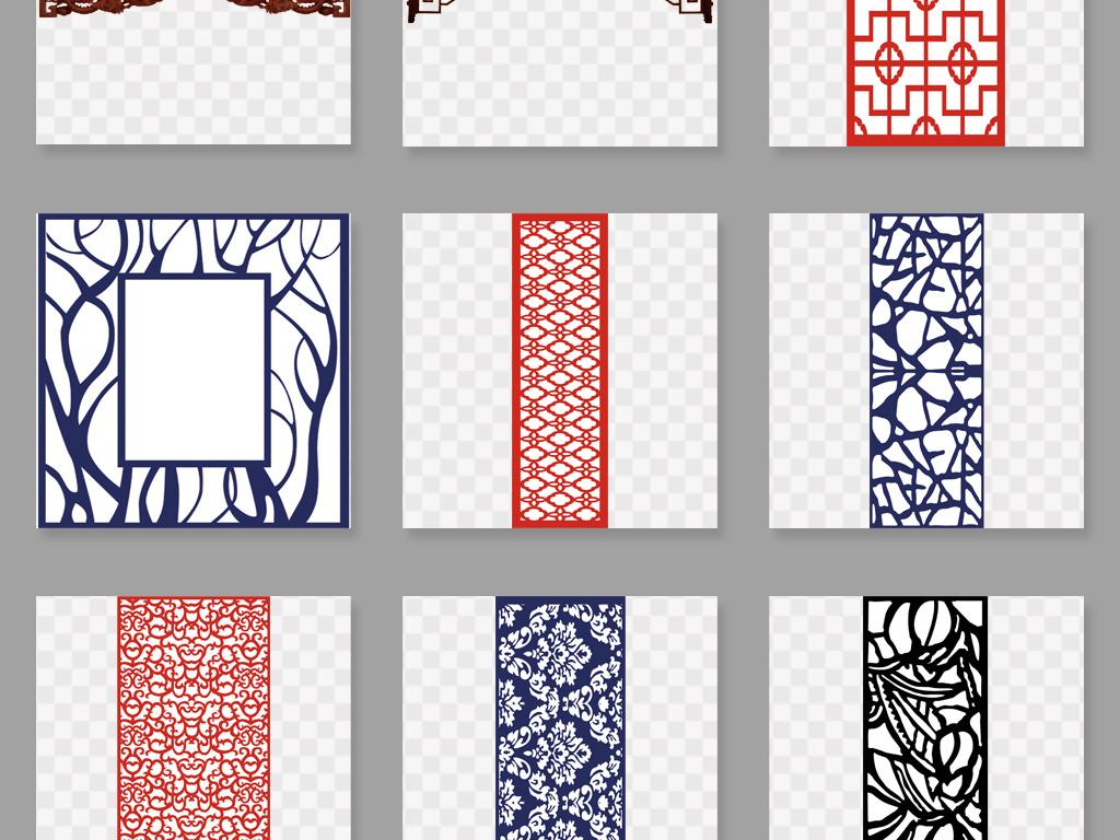 设计元素 花纹边框 中国风边框 > 中式窗格窗花图案png免扣素材  素材