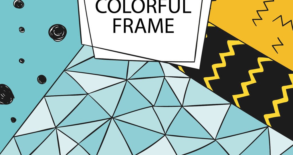2018时尚手绘抽象几何背景海报模版矢量素材