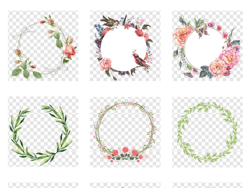 藤蔓花藤手绘花藤花藤边框夏季素材元素树叶绿色树藤绿色树叶png图片