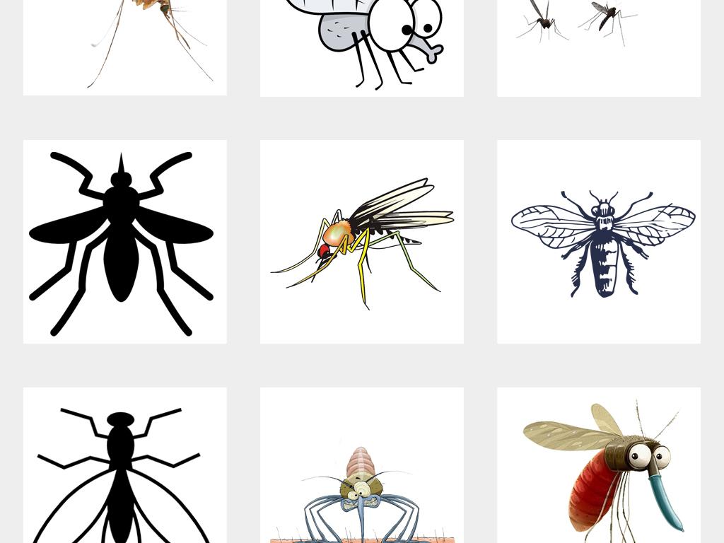 苍蝇卡通图可爱蚊子蚊子图片消灭蚊子卡通动物动物素材卡通素材动物素