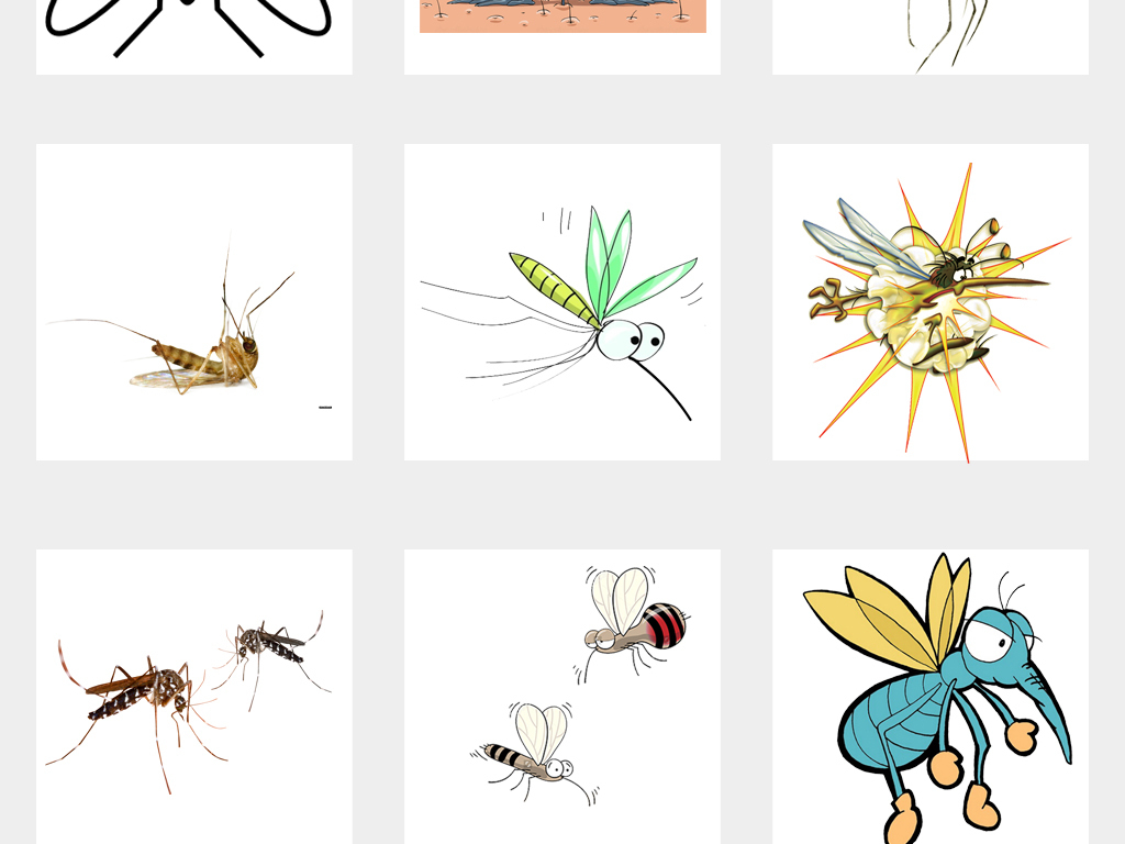 苍蝇卡通图可爱蚊子蚊子图片消灭蚊子卡通动物动物素材卡通素材动物