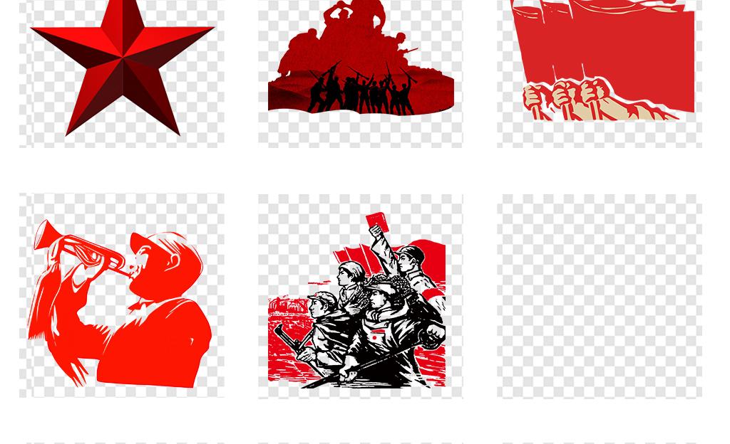 红军革命烈士雕像军人人物剪影png素材