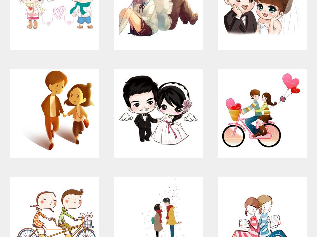 婚庆高清情侣头像封面表情包海报背景png图片