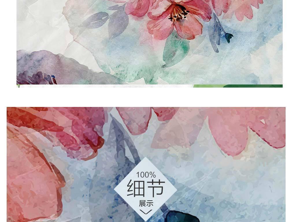 手绘玫瑰大理石贴图
