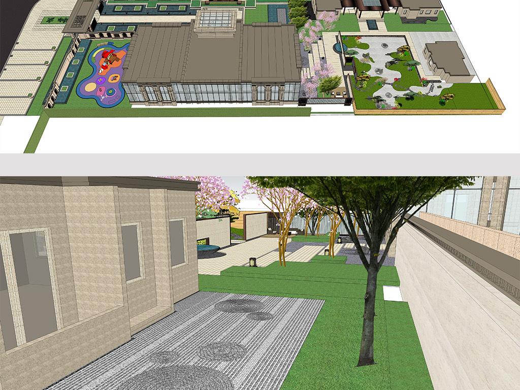 日式庭院景观新亚洲中式廊架图片