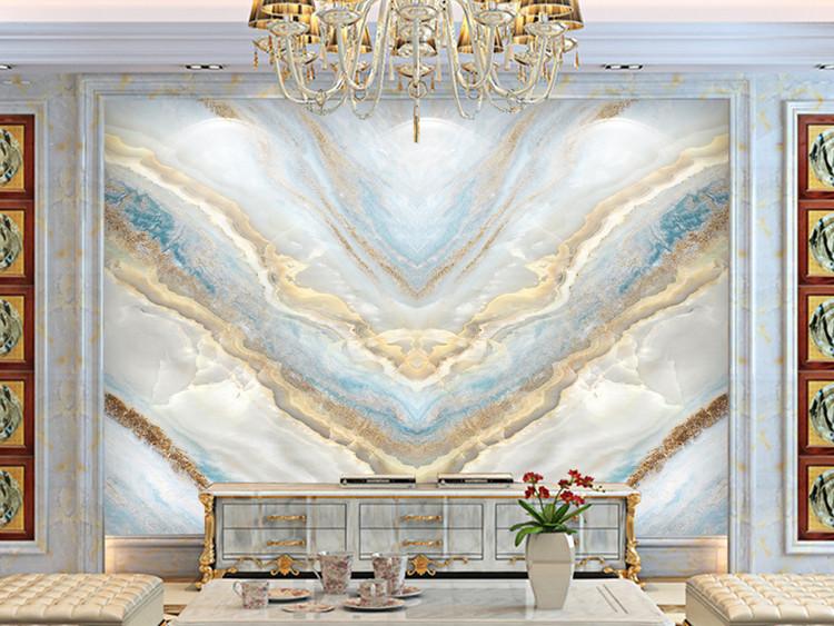 时尚爱琴海大理石纹电视背景墙