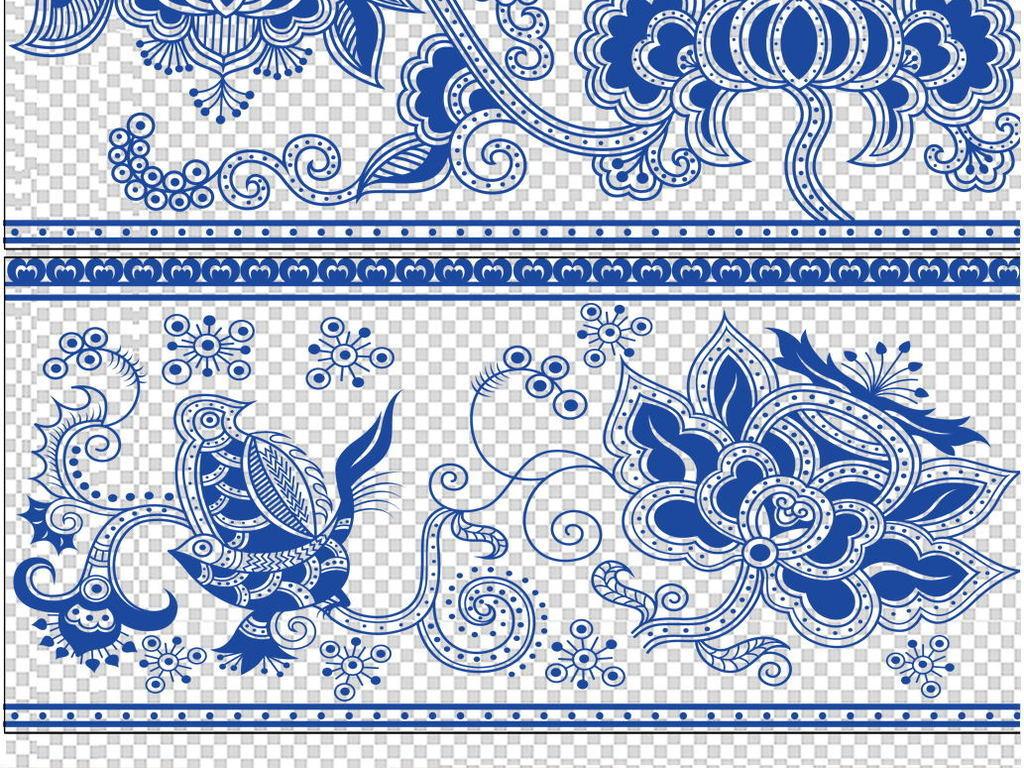 设计元素 背景素材 中国风背景 > 中式古典祥云花纹底纹海浪图案背景