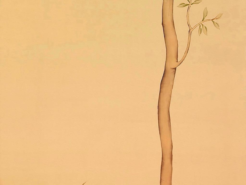 新中式风格花鸟工笔画背景图无框画装饰画图片