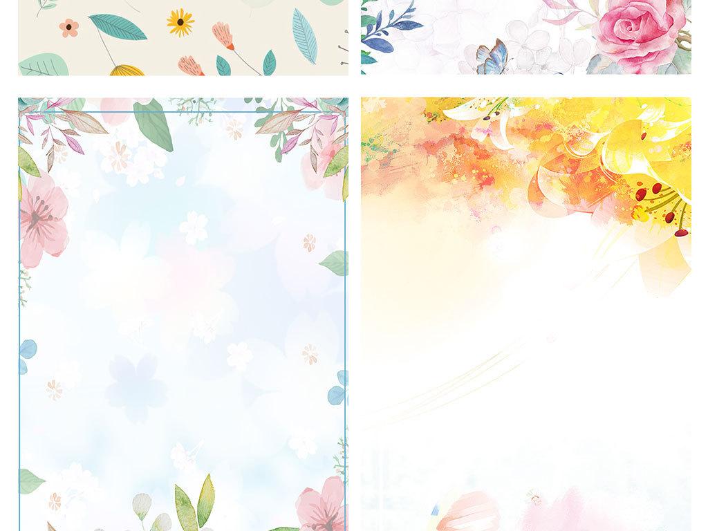 春季新品小清新花朵上市促销海报背景图图片