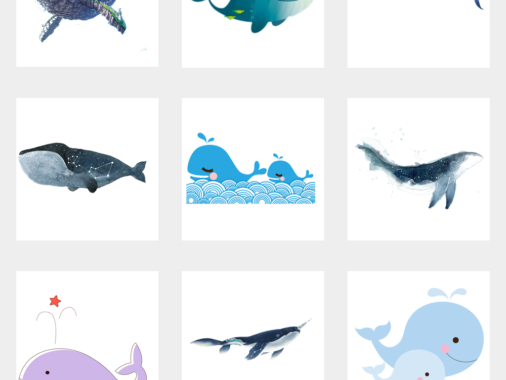 卡通海洋生物海豚动物png素材