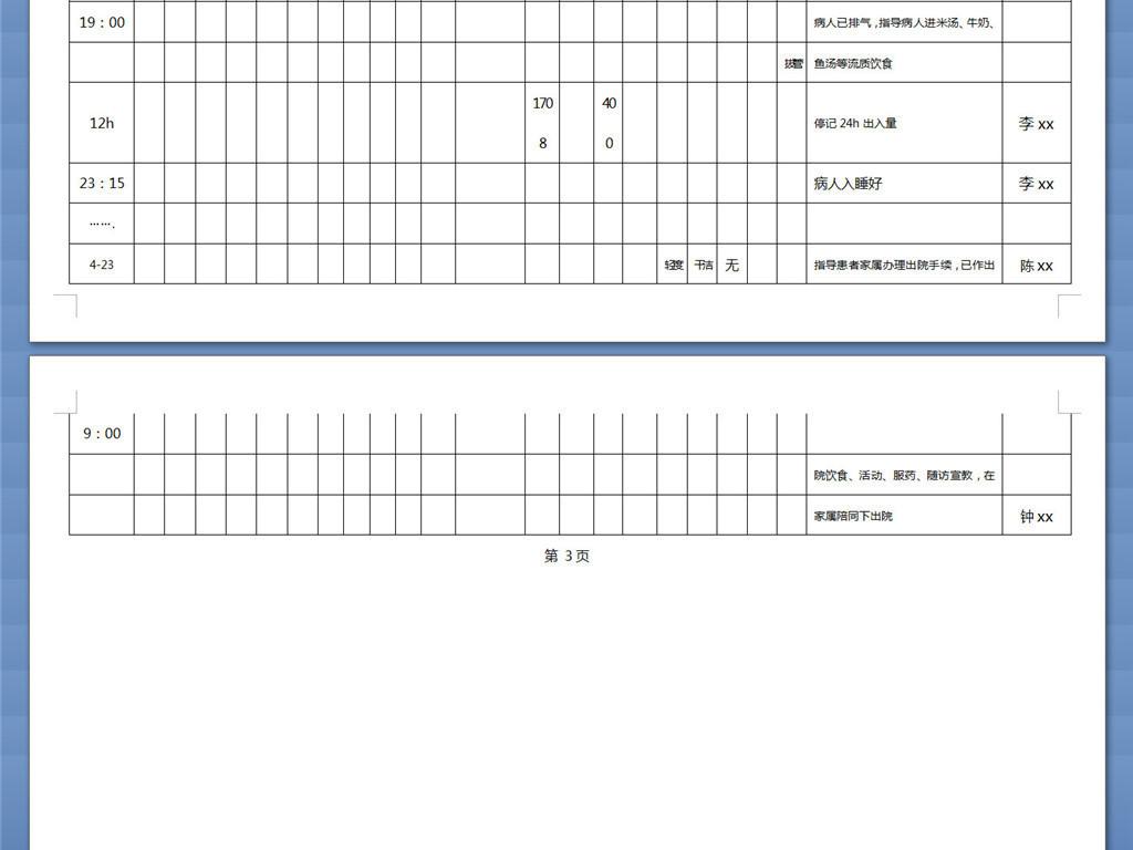 护理记录单记录方法医院危重患者护理记录单模板下载 word doc格式素材 图片0.02MB 其他文档大全 办公常用