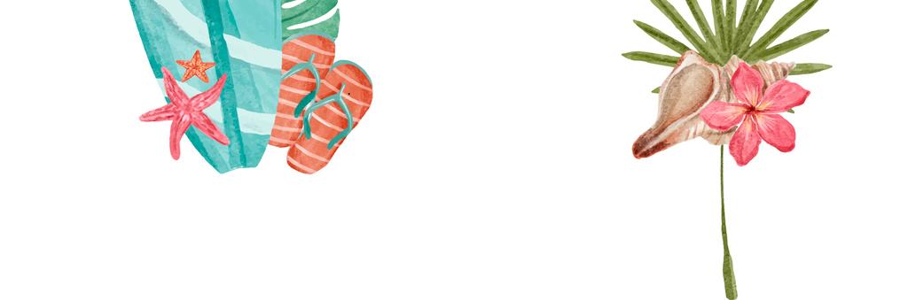 2018时尚手绘小清新夏日海报模版矢量素材图片_ai模板图片