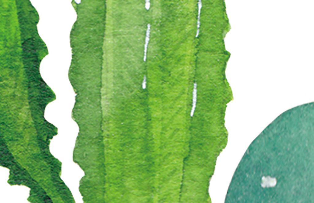 北欧手绘小清新仙人掌植物画无框画