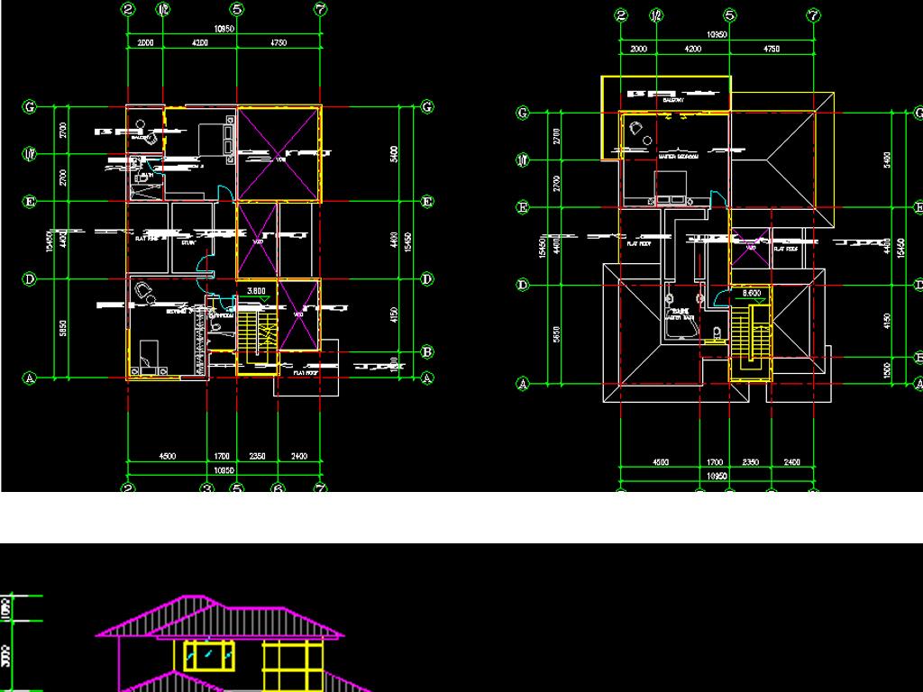 别墅cad图纸平面设计图下载(图片0.60mb)_别墅cad图纸