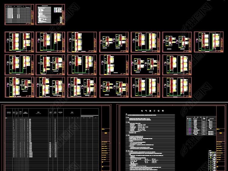 大楼配电箱强电系统图