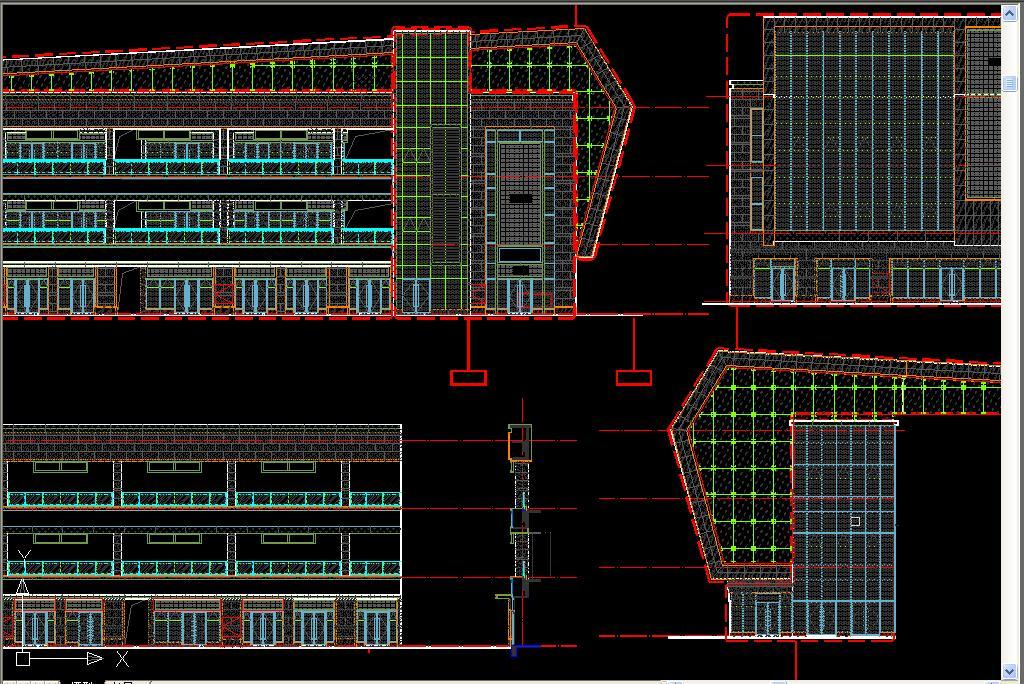 cad图库 建筑cad图纸 建筑立面cad > 玻璃幕墙cad节点图  版权图片