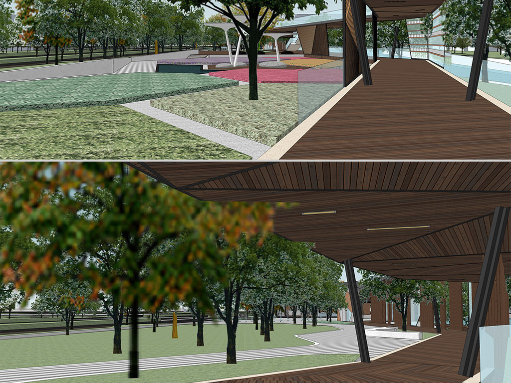 现代滨水公园景观设计休闲娱乐公共空间