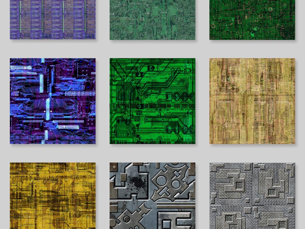电路板金属板材jpg质贴图素材