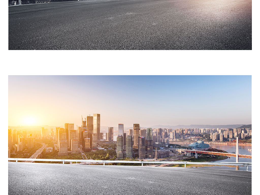 简约大气城市建筑海报设计素材banner背景