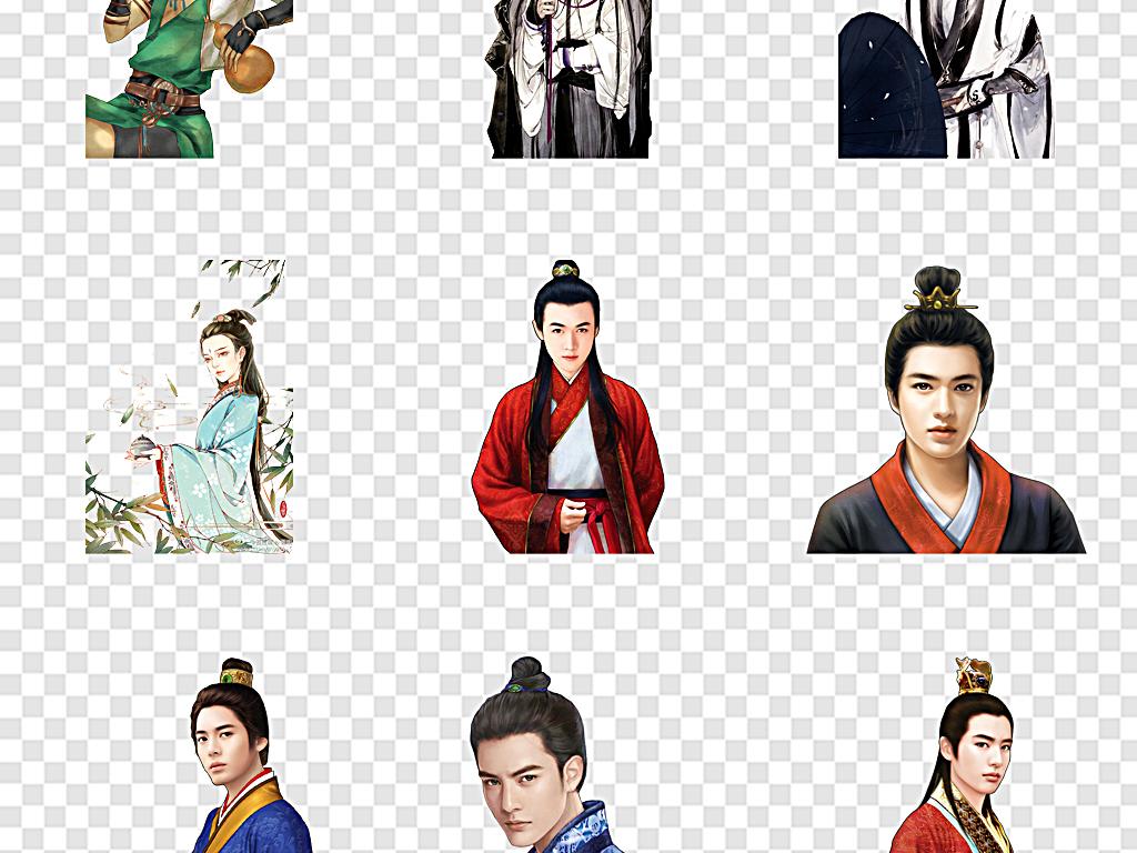 男主角古装帅哥中国风男子古代男子英雄人物图片素材图片