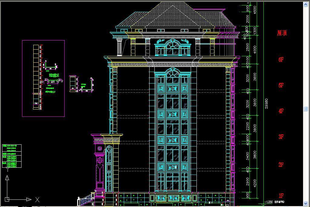 大理石别墅立面图平面设计图下载 图片5.26MB 建筑立面CAD大全 建