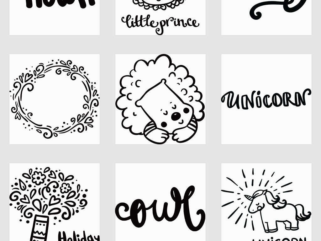 AI 独立png 幼儿园儿童卡通人物动物简笔画手账插图图片素材 ai模板下载 12.86MB 其他大全 标志丨符号图片