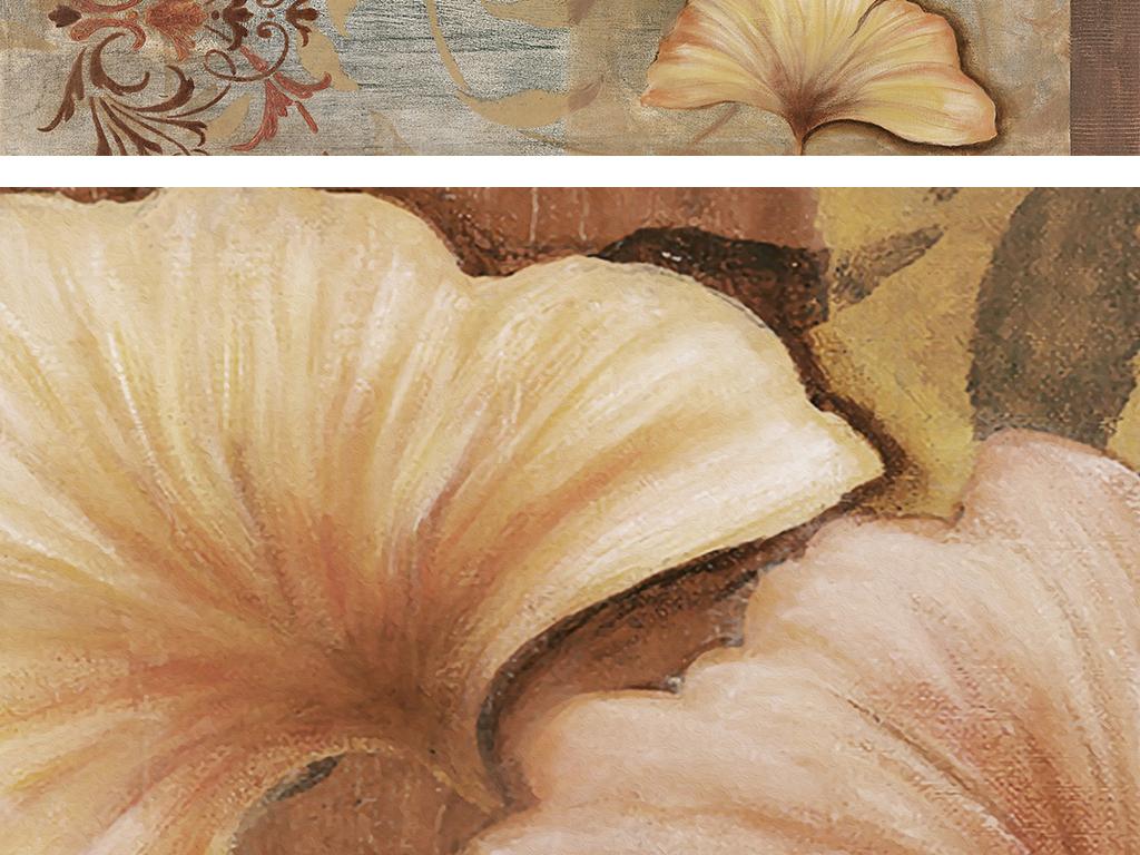 银杏叶手绘油画地毯