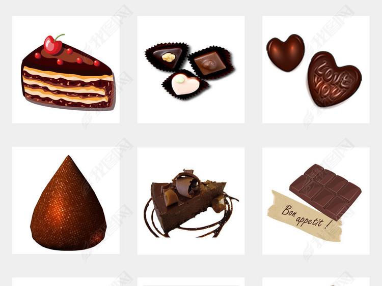 520情人巧克力飞溅巧克力海报PNG素材