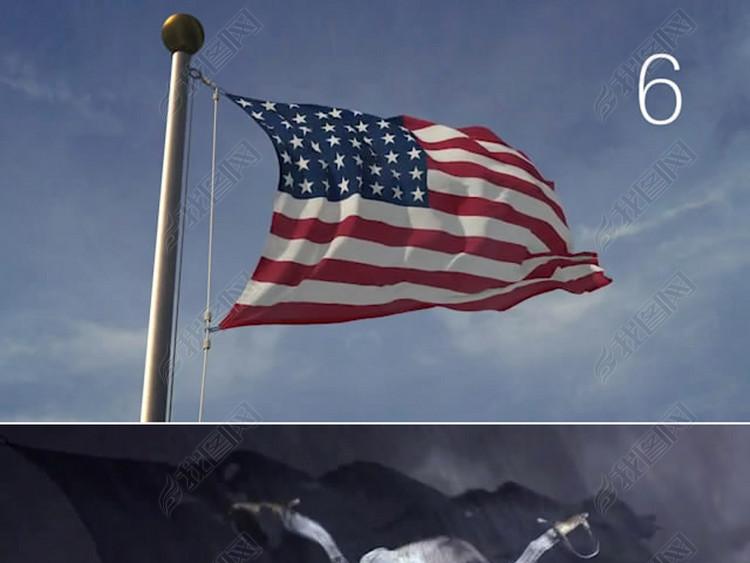3d国旗动画视频模板