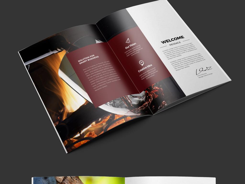 高端酒庄红酒葡萄酒礼品洋酒宣传册画册模板图片设计图片