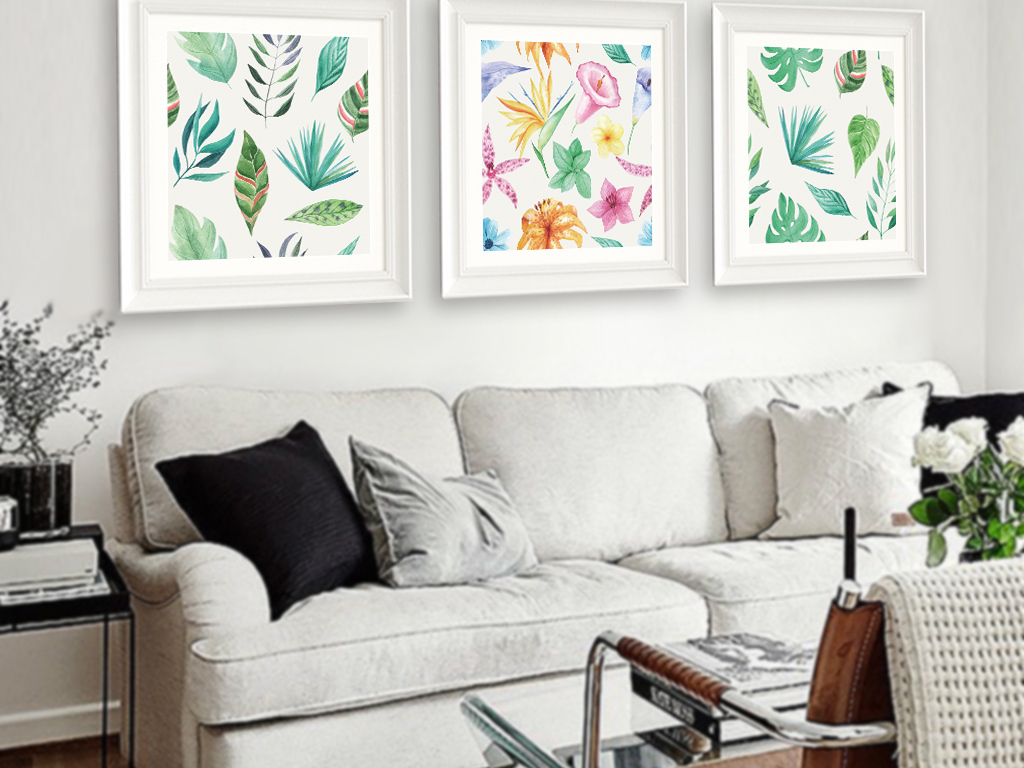 背景墙|装饰画 无框画 植物花卉无框画 > 北欧ins小清新装饰画  素材