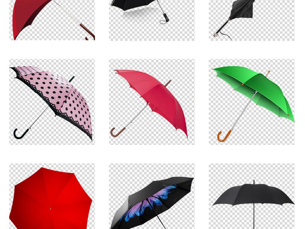 时尚彩色雨伞png卡通手绘伞免扣透明素材