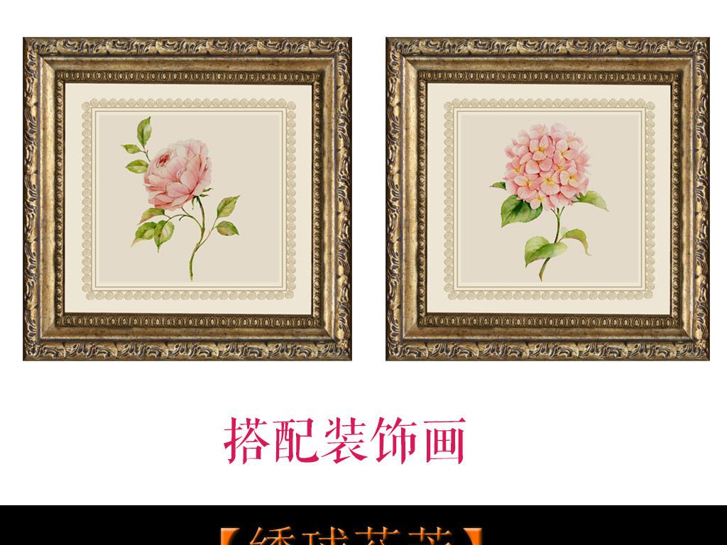 2018暖色手绘花朵电视背景墙全屋壁画