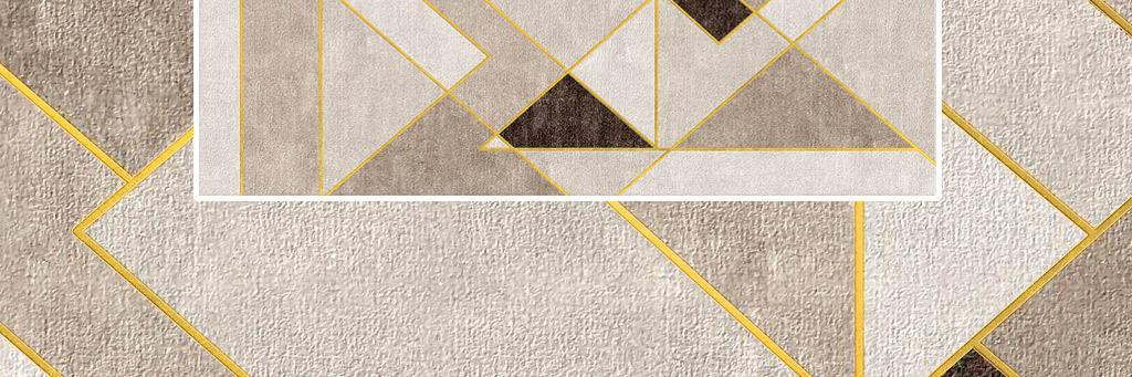 现代北欧简约大气复古几何地毯图案设计图片