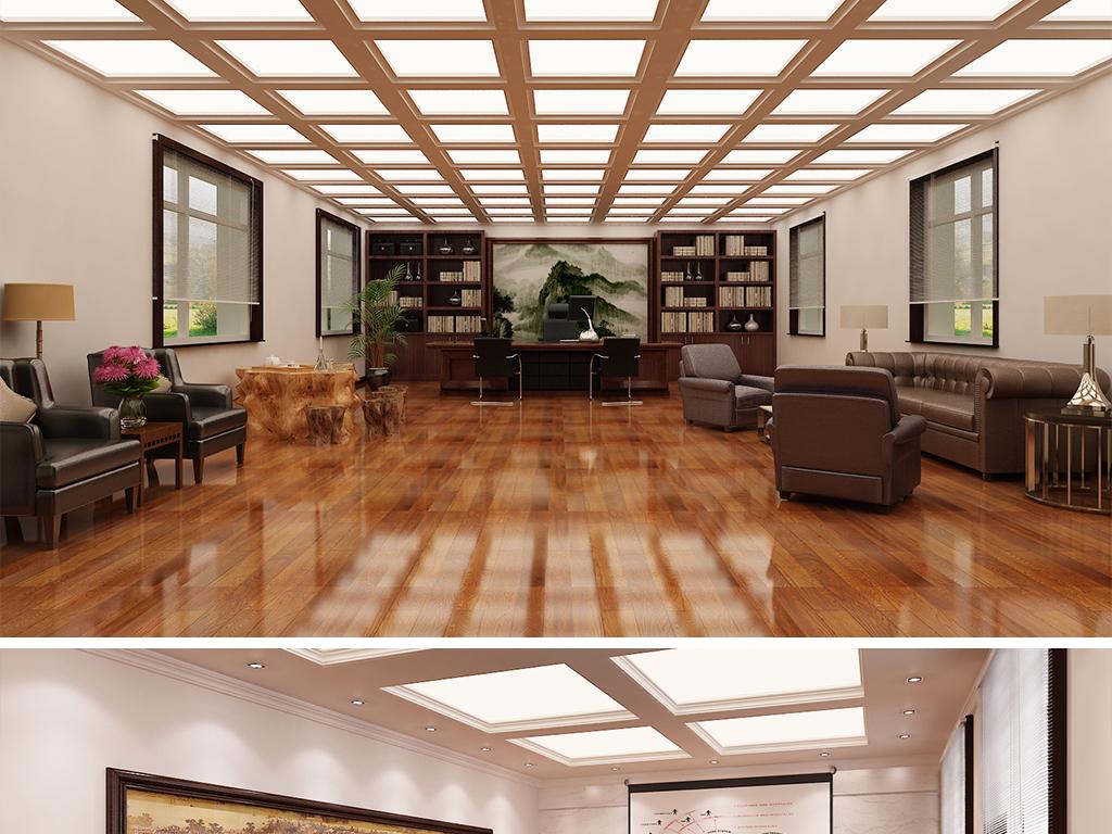 全套公司企业会议室活动室展厅3d模型设计图片