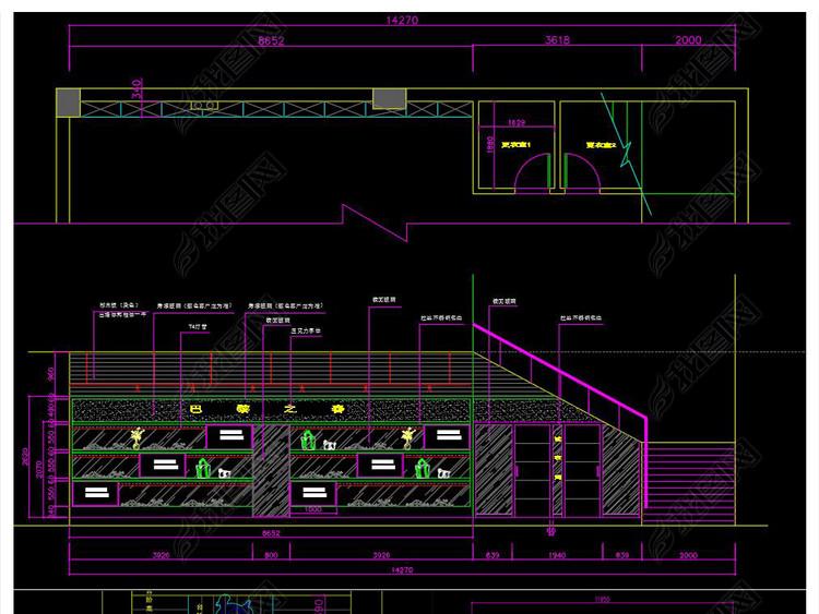 xx服装生活馆CAD施工图