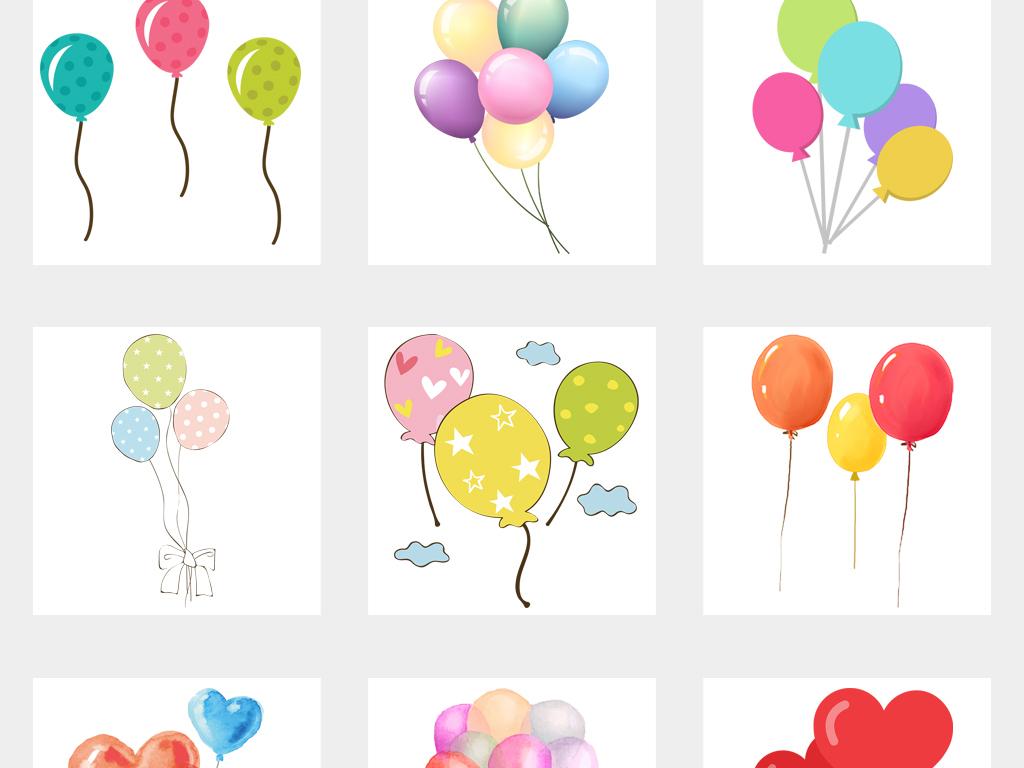 卡通手绘气球png透明背景免扣素材