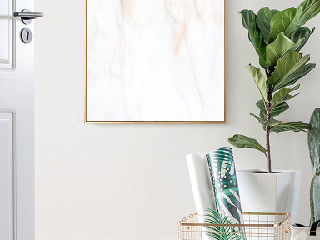 简约北欧文艺小清新植物手绘水彩花朵装饰画