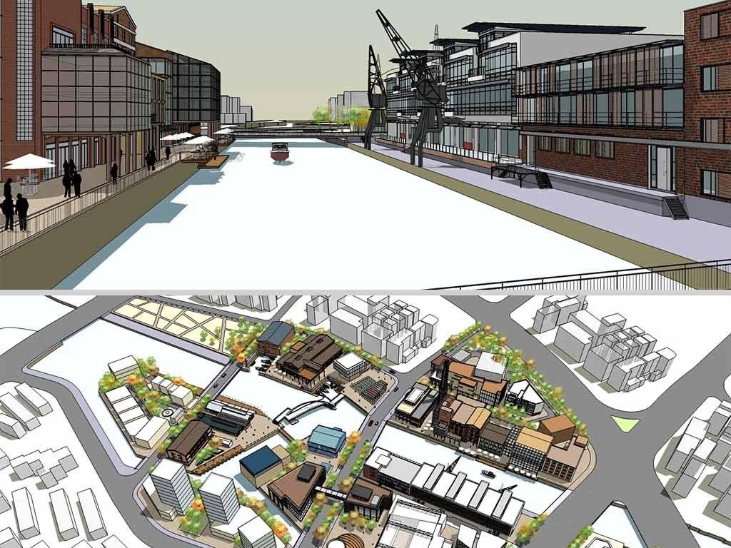 现代老厂房区域改建景观规划设计su模型图片