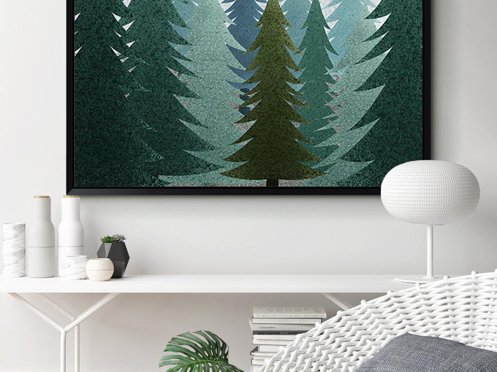 装饰画 北欧装饰画 植物花卉装饰画 > ins北欧简约风风景手绘装饰画