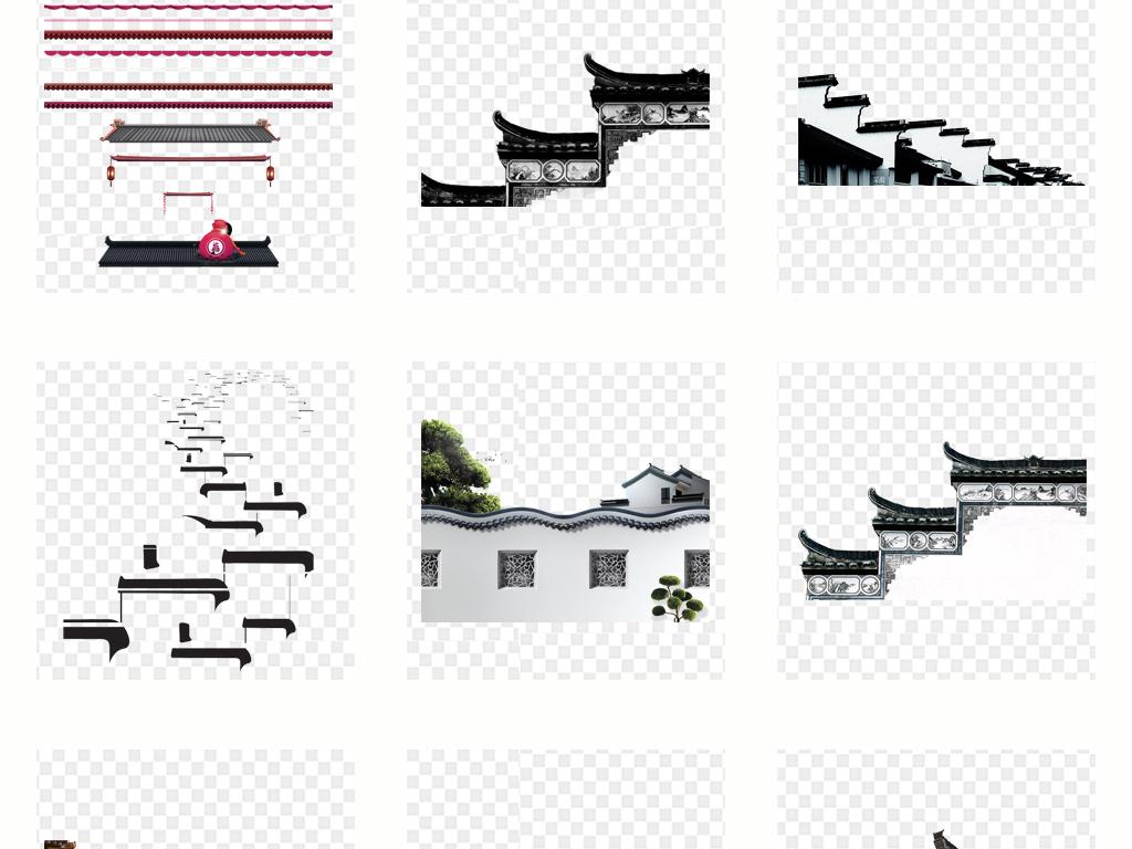 中式围墙设计效果图