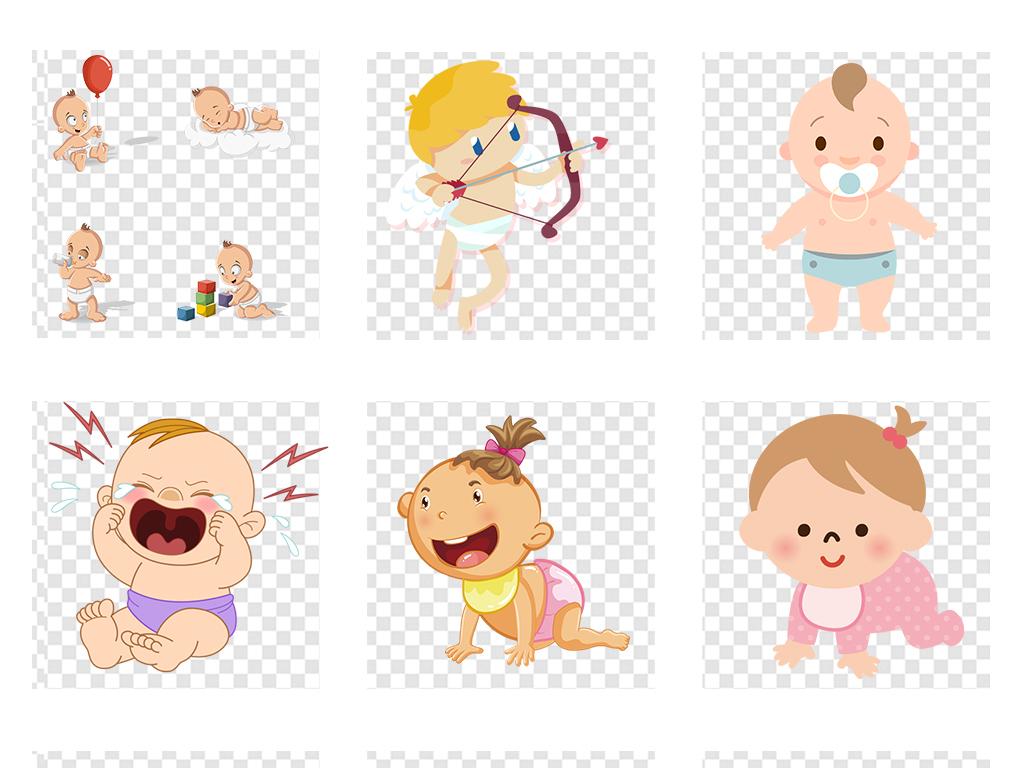 免扣元素 人物形象 动漫人物 > 卡通手绘母婴儿童小孩png素材设计元素