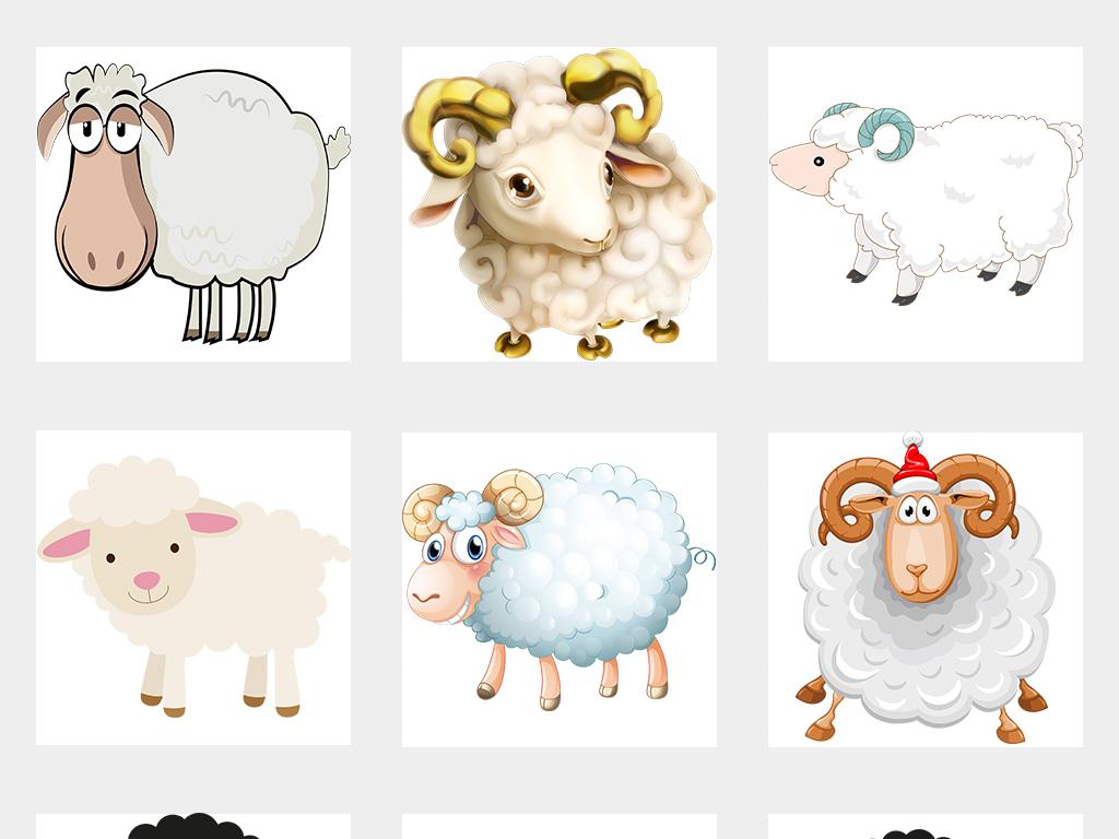 小羊 卡通图片素材图片展示