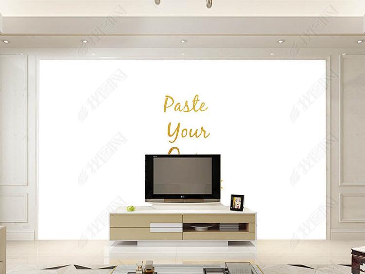 新中式中国风装饰画背景墙贴图效果样机