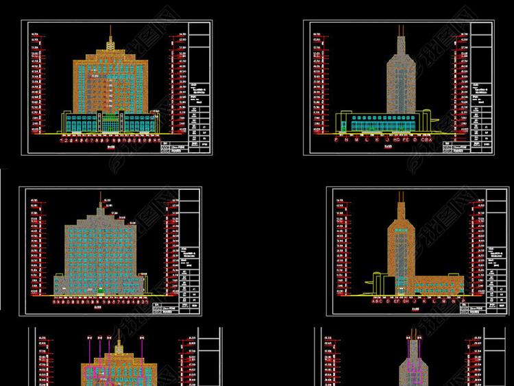 全套建筑幕墙CAD施工图