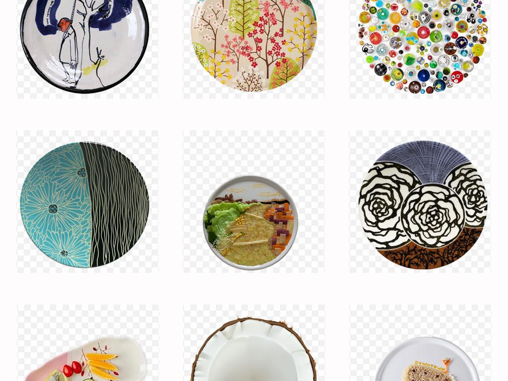 个性创意盘子绘画手绘盘子画背景PNG素材图片 模板下载 31.41MB 居