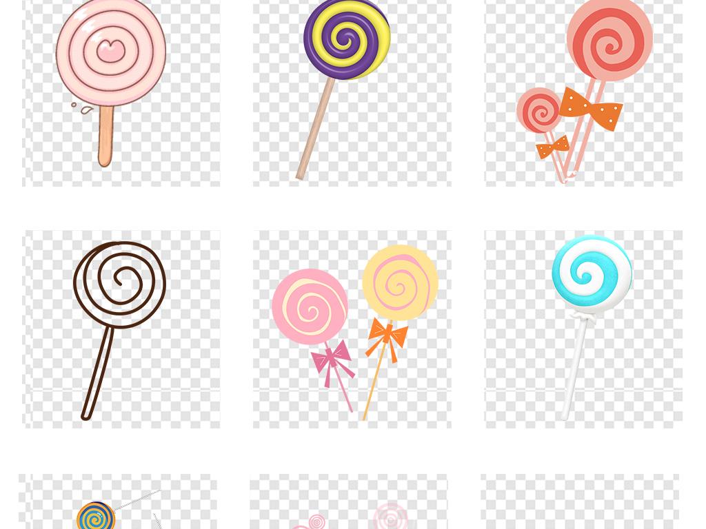 免扣元素 花纹边框 卡通手绘边框 > 儿童彩虹棒棒糖糖果甜品零食食品