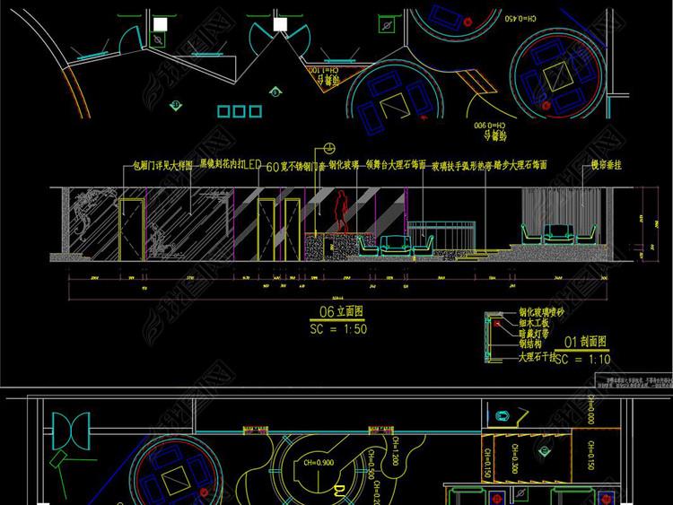 全套酒吧会所CAD施工图