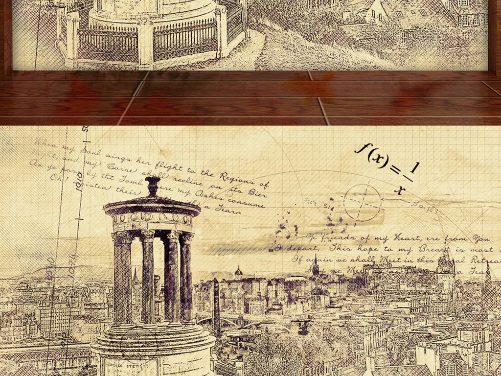 手绘文艺复兴哥特式意大利