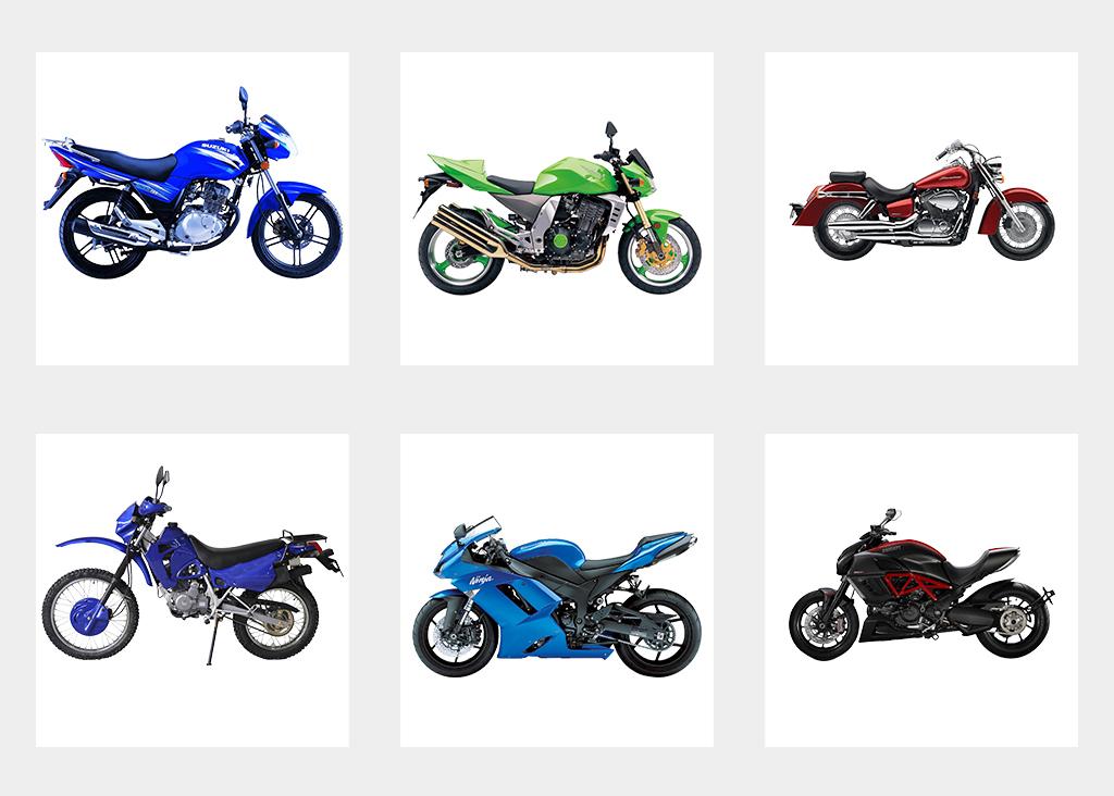 越野卡通手绘摩托车电动车海报模型png